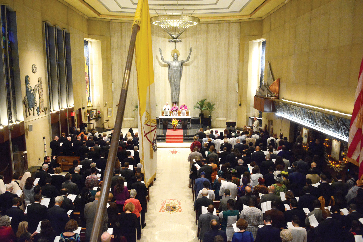 The annual liturgy is sponsored by the Vatican's Permanent Observer Mission of the Holy See to the United Nations.