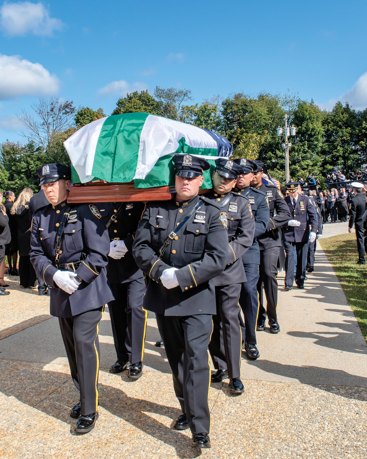 Cardinal Dolan celebrated the Funeral Mass of NYPD Officer Brian Mulkeen, who died from friendly fire in the line of duty in the Bronx.