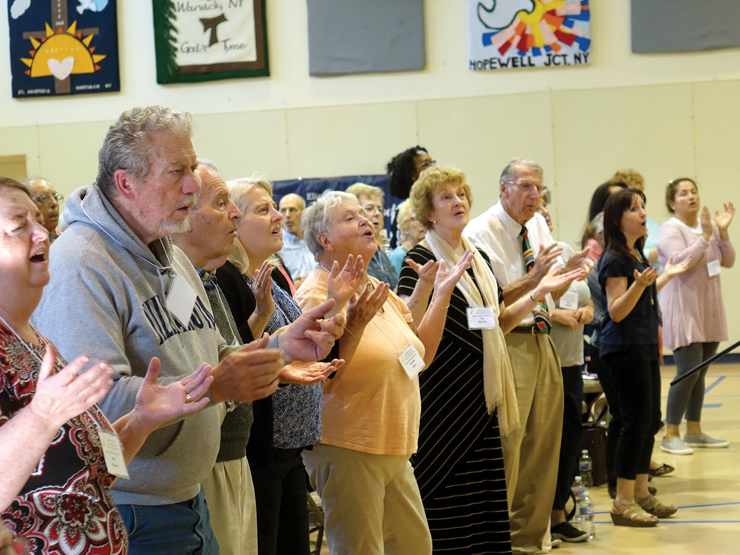 Participants join in prayer and song at the annual Upper Counties Catholic Charismatic Renewal Conference Sept. 28 at Capuchin Youth and Family Ministries in Garrison.