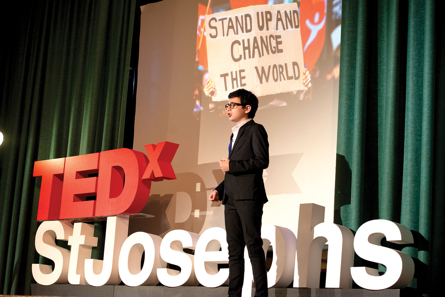 "Student Nicolas Basso speaks about ""The Power of Connection""."