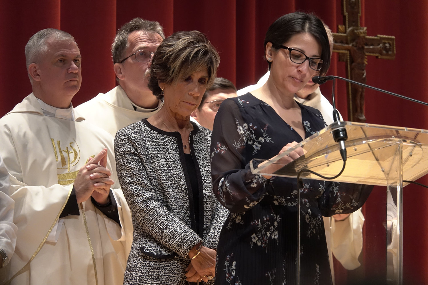 During the morning Mass, the general intercessions were delivered by Teresa Letizia, principal of St. Ann's School in Manhattan, and Fran Mastropietro, a teacher at St. Anthony School in Nanuet.