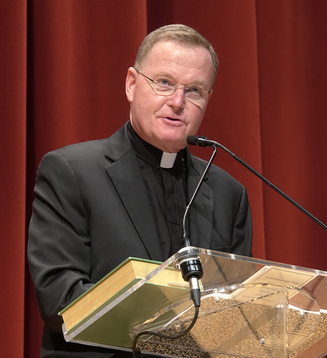 Bishop-elect Edmund Whalen, vicar for clergy and former principal of Msgr. Farrell High School on Staten Island, delivers the keynote address at the gathering.