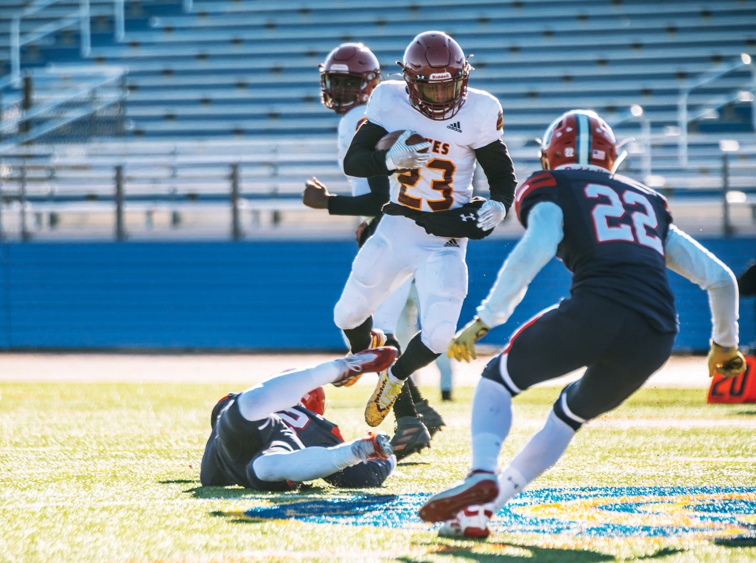 Cardinal Hayes senior Jalen Smith carries the football during his team's 25-7 Catholic High School Football League AAA championship victory over Archbishop Stepinac at Mitchel Field in Uniondale Nov. 16.