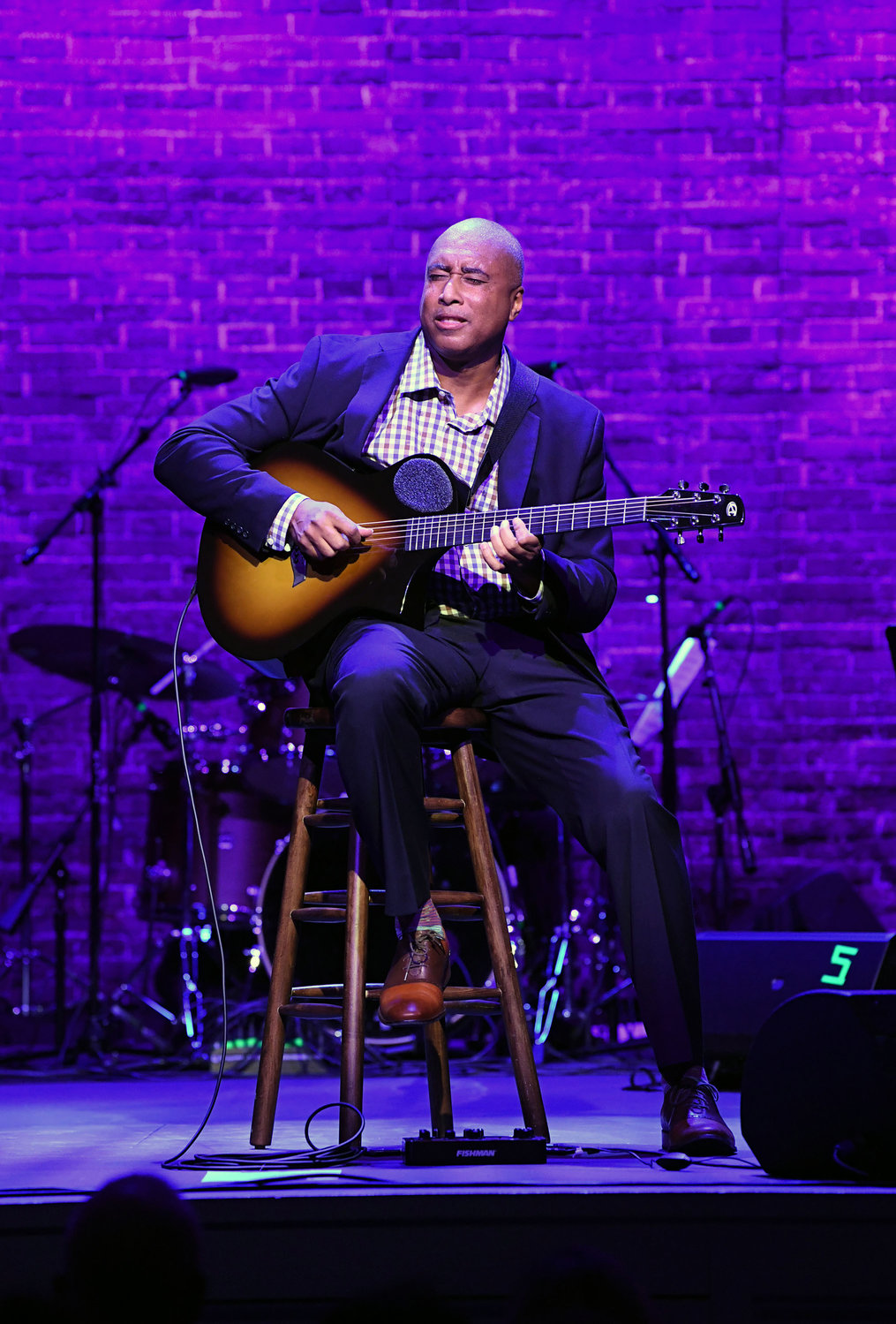 "Former New York Yankees great Bernie Williams performs ""Take Me Out to the Ball Game"" at ""Vanessa Williams & Friends: Thankful for Christmas,"" a benefit performance for The Sheen Center for Thought & Culture in Manhattan Nov. 18."