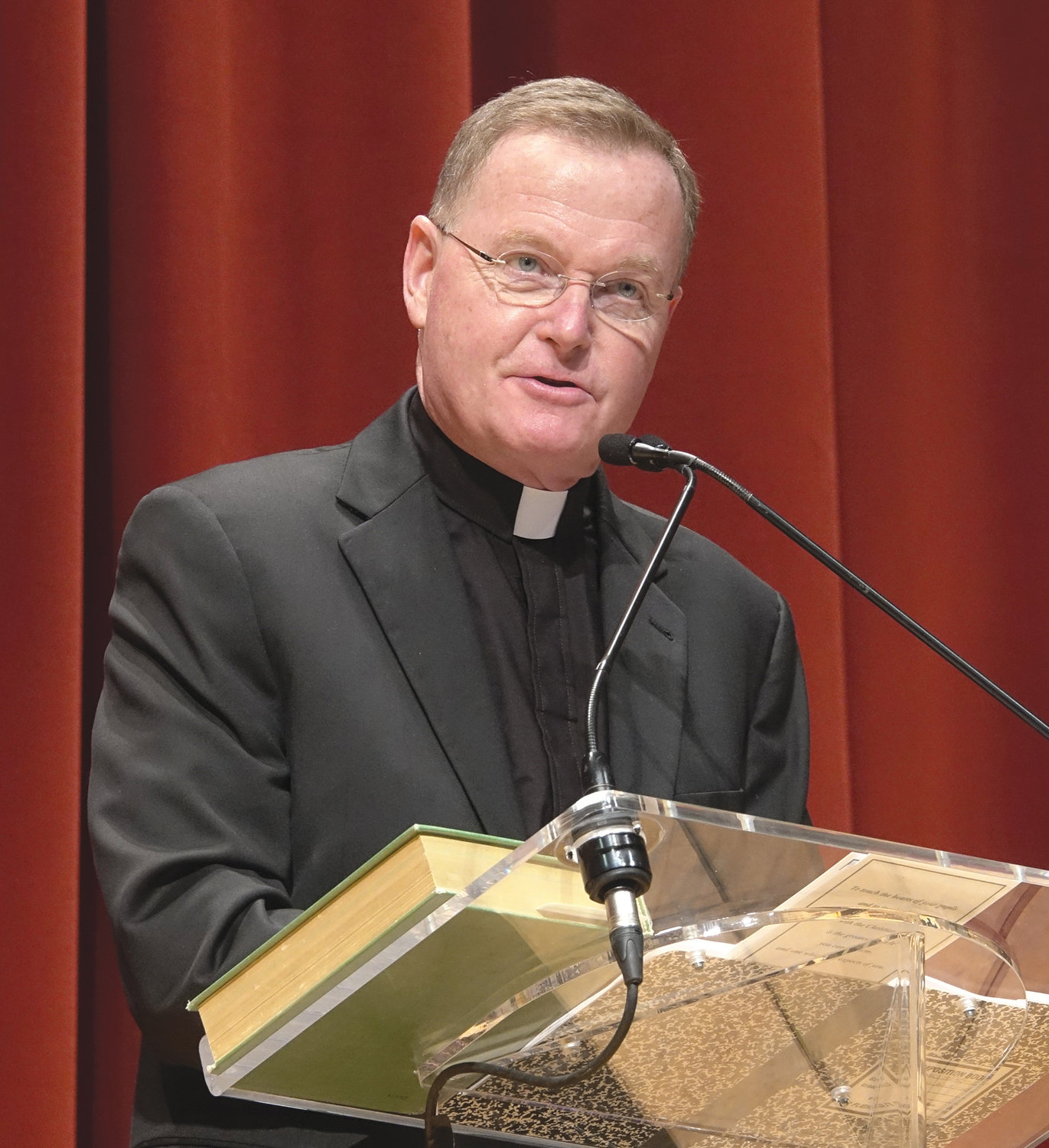 Bishop-elect Edmund Whalen, a former principal and faculty member at Msgr. Farrell High School on Staten Island, delivered a well-received keynote address.