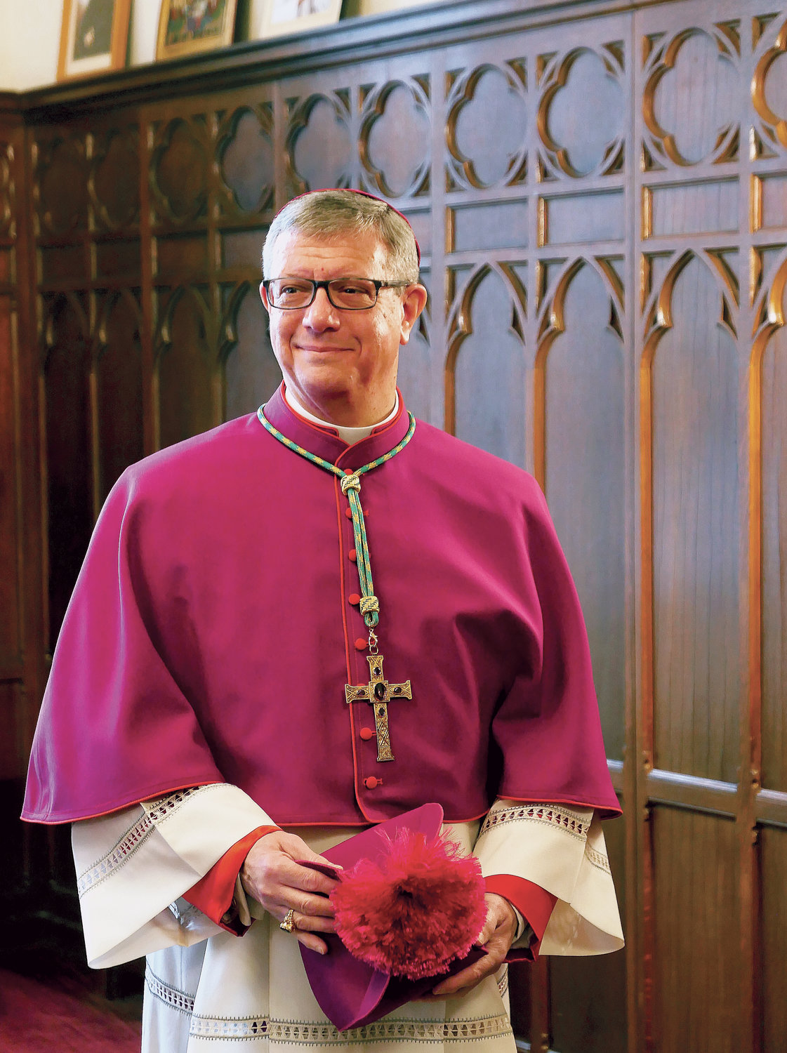 When Bishop-elect Gerardo J. Colacicco and Bishop-elect Edmund J. Whalen recently had their official portraits taken at the Cardinal's Residence in Manhattan, Catholic New York was there to take these shots for the cover of the special 40-page wraparound section in advance of their Mass of Ordination as bishops Dec. 10.