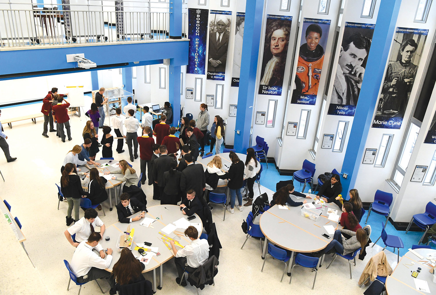 More than 75 Catholic high school students from Staten Island participated in their first engineering conference at Borough Presidents Hall of Science at the Petridies Education Complex Nov. 22. Engineering Tomorrow introduces high school students to the engineering field with projects that illustrate practical applications for the math and science they study.