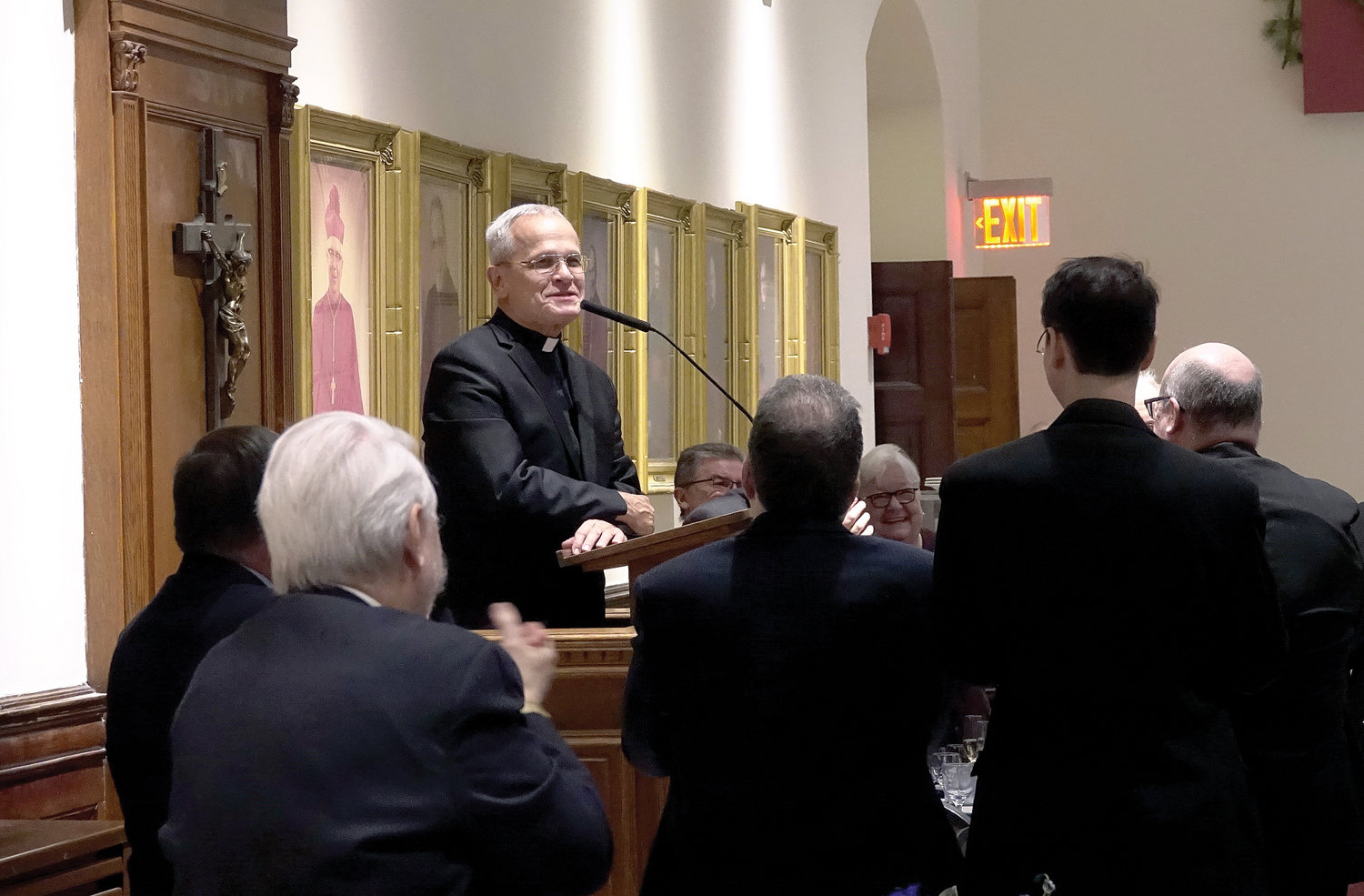 Msgr. Vaccari addresses attendees.