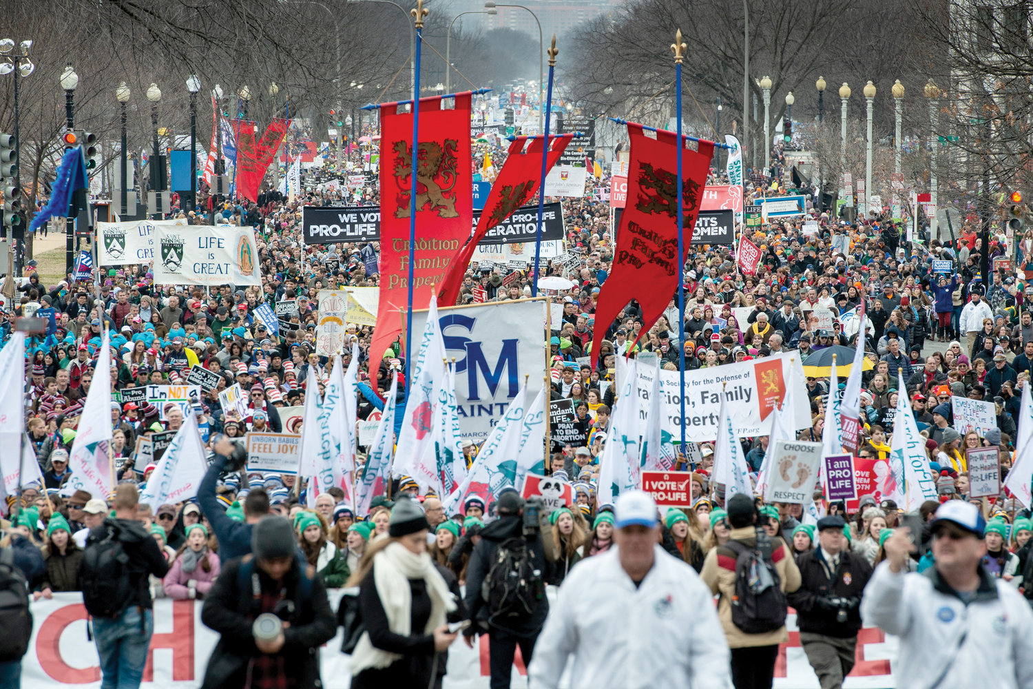 ALL FOR LIFE—A huge crowd fills Constitution Avenue in Washington, D.C., at the 47th annual March for Life Jan. 24.