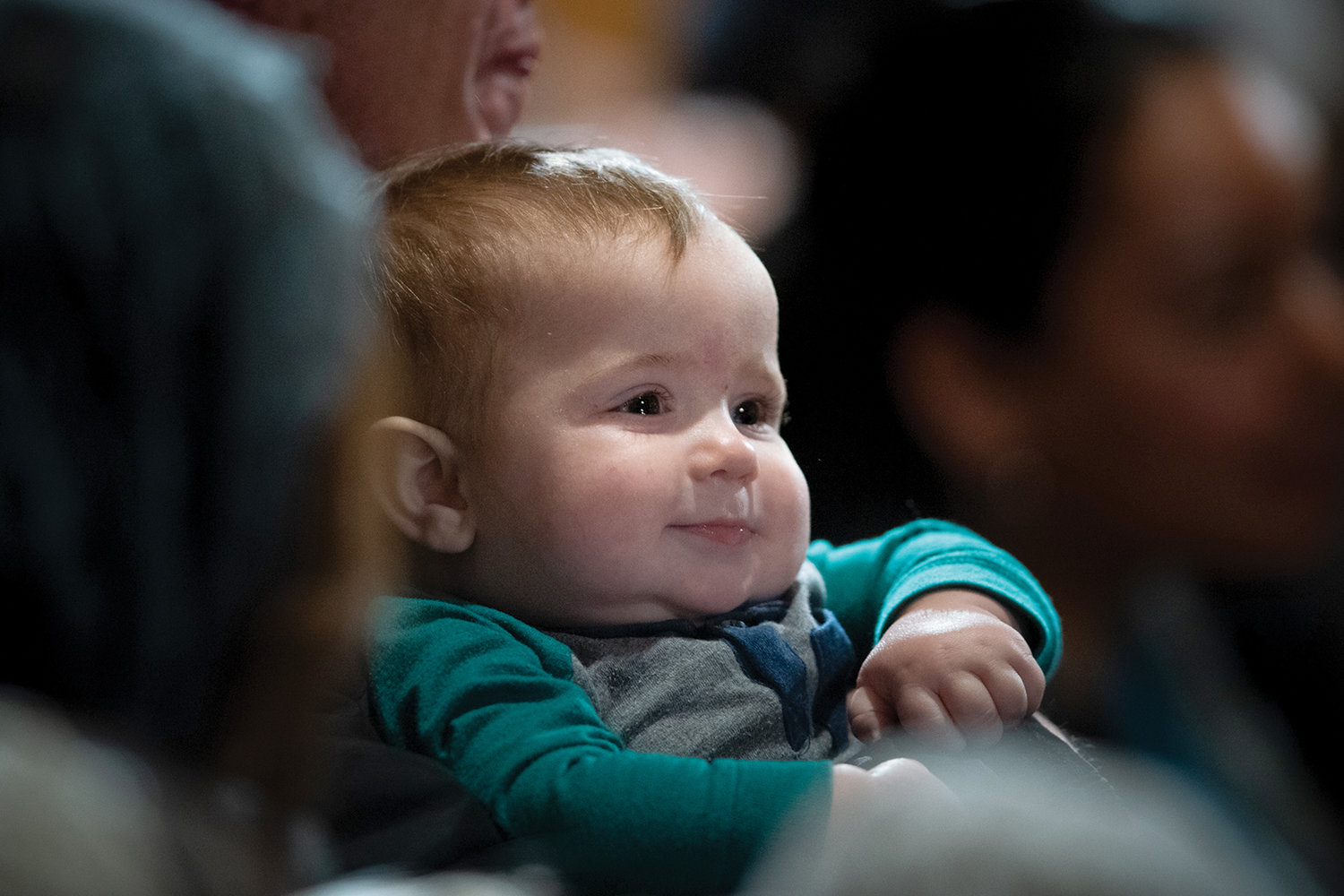 A baby's face brightens the opening Mass of the National Prayer Vigil for Life in the Basilica of the National Shrine of the Immaculate Conception Jan. 23.