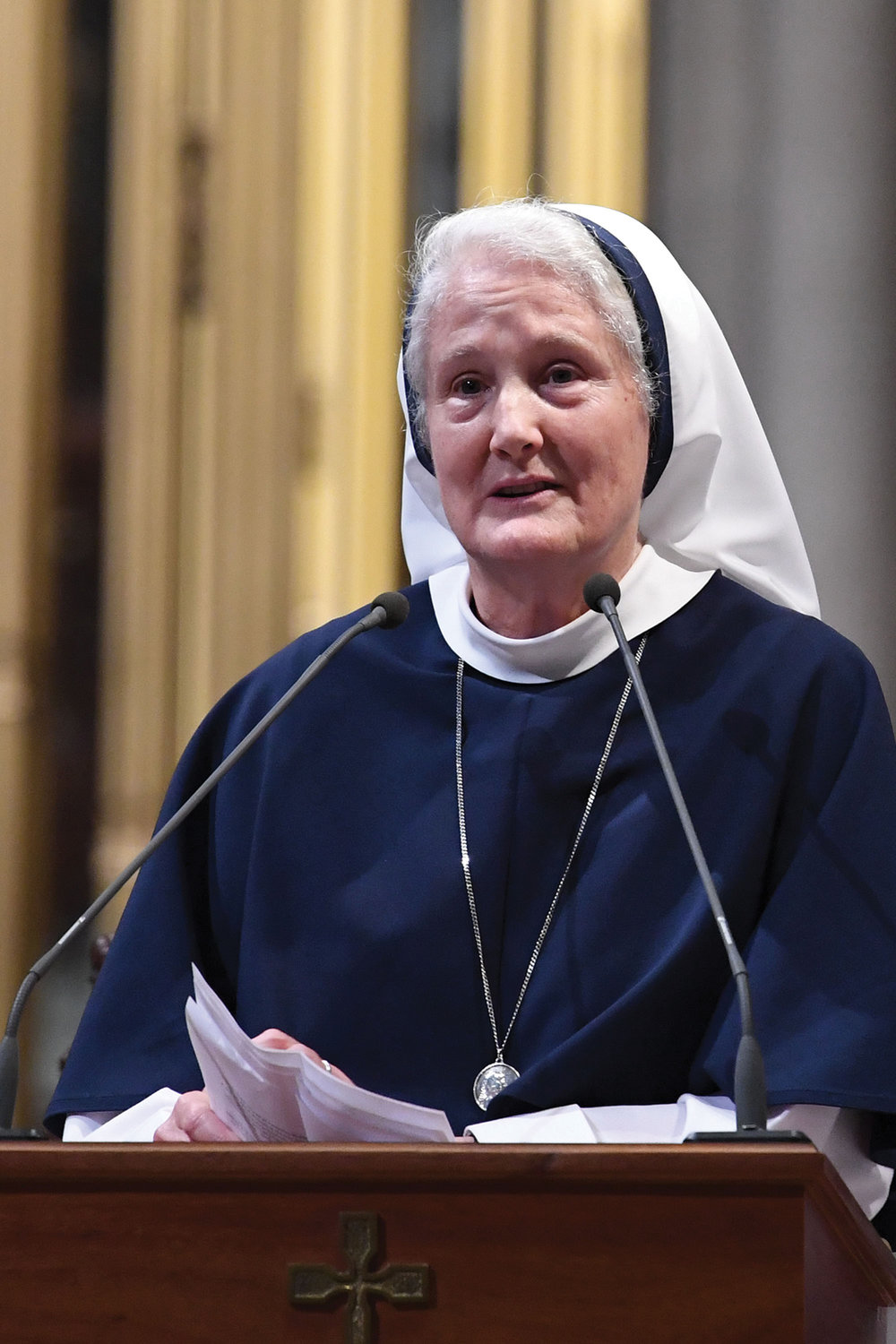 Mother Agnes Mary Donovan, S.V., superior general of the Sisters of Life, gave a reflection about Cardinal O'Connor after the Mass. The cardinal founded the religious community in 1991.