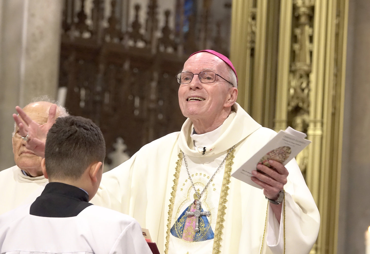 Bishop Emeritus Francois Lapierre, P.M.E., of the Diocese of Saint-Hyacinthe in Quebec, Canada, served as principal celebrant and homilist.