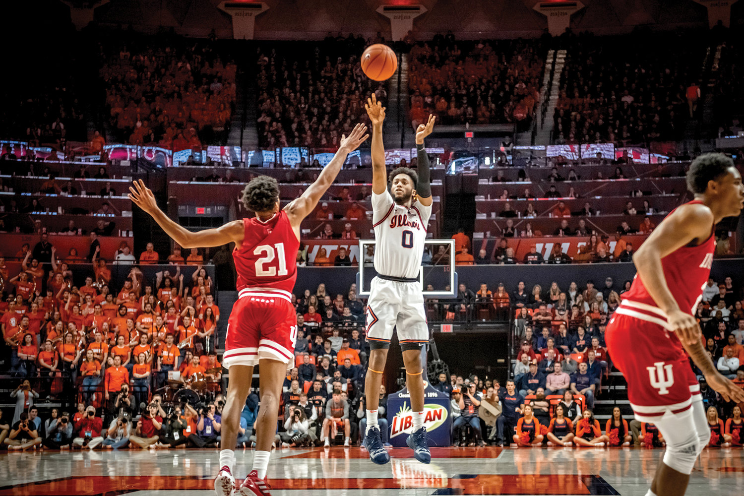 Archbishop Stepinac graduate Alan Griffin shoots a jumper over an Indiana defender for the University of Illinois March 1.