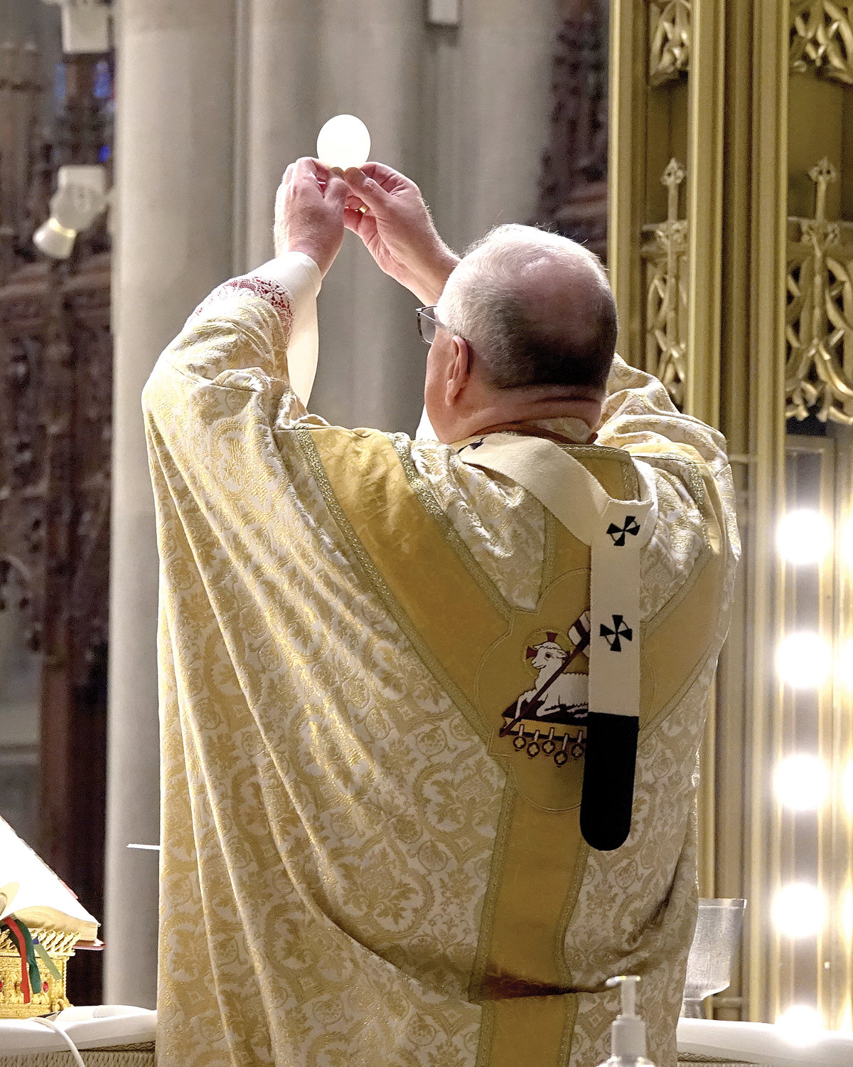 EASTER HOPE—Cardinal Dolan celebrates the 10 a.m. Mass on Easter Sunday, April 12, at St. Patrick's Cathedral.