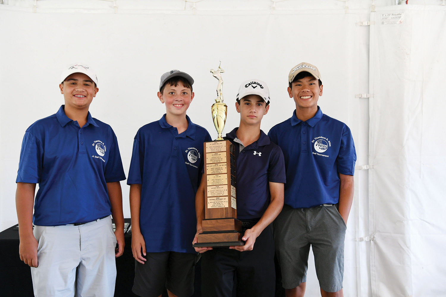 The winning boys' team from IS 34 was, from left, Michael Hui, Sean Bailey, James Lamantia and Andrew Biscocho.