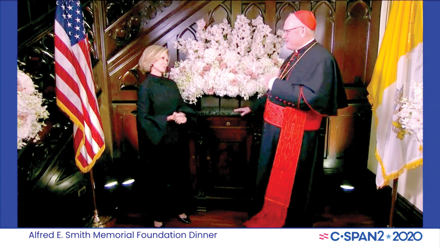 Cardinal Dolan, chair of the Smith Memorial Foundation, was joined by co-host Mary Callahan Erdoes, vice chair of the Smith Memorial Foundation.