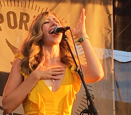 Rachael Price performs at the 2018 Newport Folk Festival.