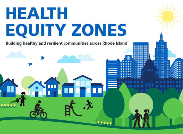 The cover image from the brochure promoting health equity zones in Rhode Island, which will be featured at the 2018 Health Equity Summit on Sept. 20