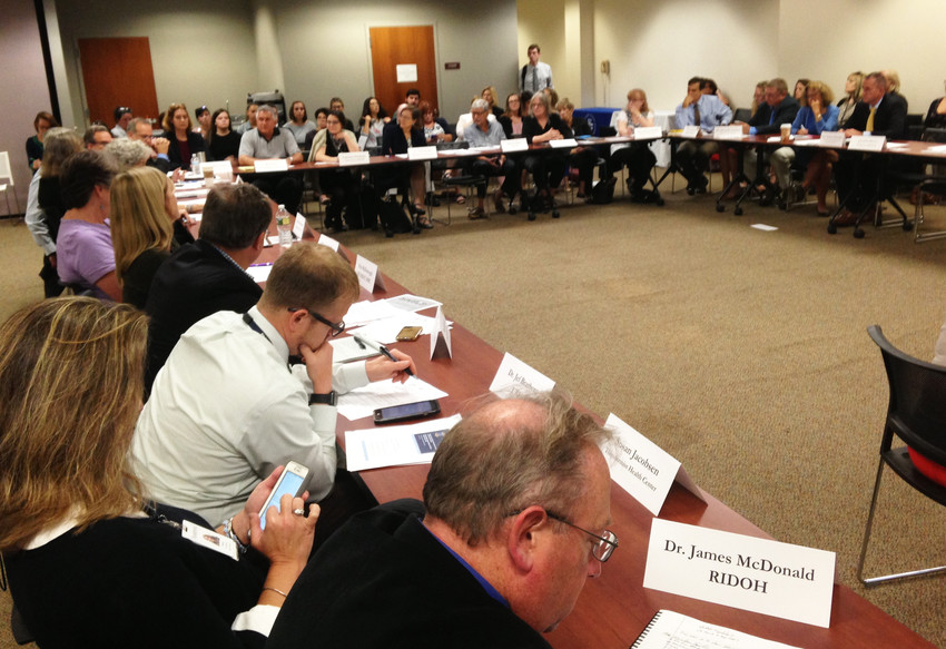 There was a full house at the Oct. 10 meeting of the Governor's Task Force on Overdose Prevention and Intervention to discuss the draft of a new, three-year strategic plan, but no other reporters attended save for ConvergenceRI.
