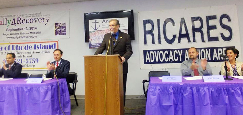 In 2014, Jim Gillen served as moderator of a candidates' forum on the overdose crisis in Rhode Island, held at the Anchor Community Recovery Center in Pawtucket.