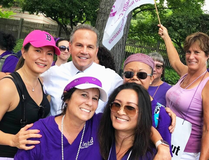 Congressman David Cicilline was one of many politicians who showed their support for union workers during the three-day strike and one-day lockout at Rhode Island Hospital and Hasbro Children's Hospital this past summer.
