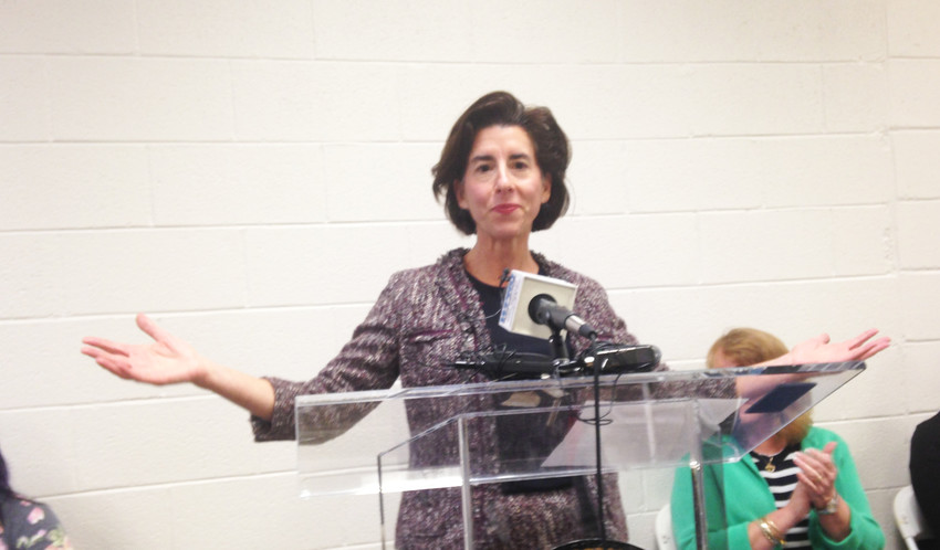 Gov. Gina Raimondo, newly elected to her second term as governor, spoke at the unofficial launch of BH LInk in East Providence.