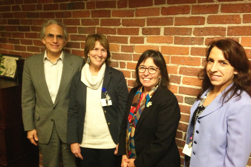 From left:Dr. Pano Yeracaris, CTC chief clinical strategist; Susanne Campbell, CTC manager of the SBIRT program; Debra Hurwitz, CTC executive director; and Linda Cabral, CTC program manager.