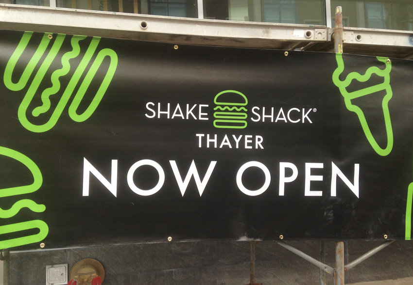 The Shake Shack is now open on Thayer Street, but the Innovation Beat story hiding in plain sight behind the signage is the opening of the new headquarters for the Nelson Entrepreneurship Center at Brown on the floors above Shake Shack.