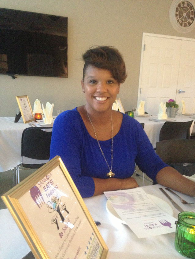 A guest attending the Sankofa EATs dinner on June 6.