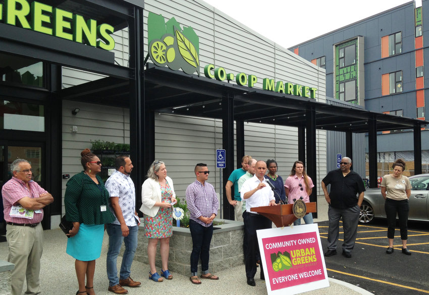 Celebrating Urban Greens Co-op Market on International Co-op Day, the first community-owned retail market in Rhode Island, with more than 1,500 members.