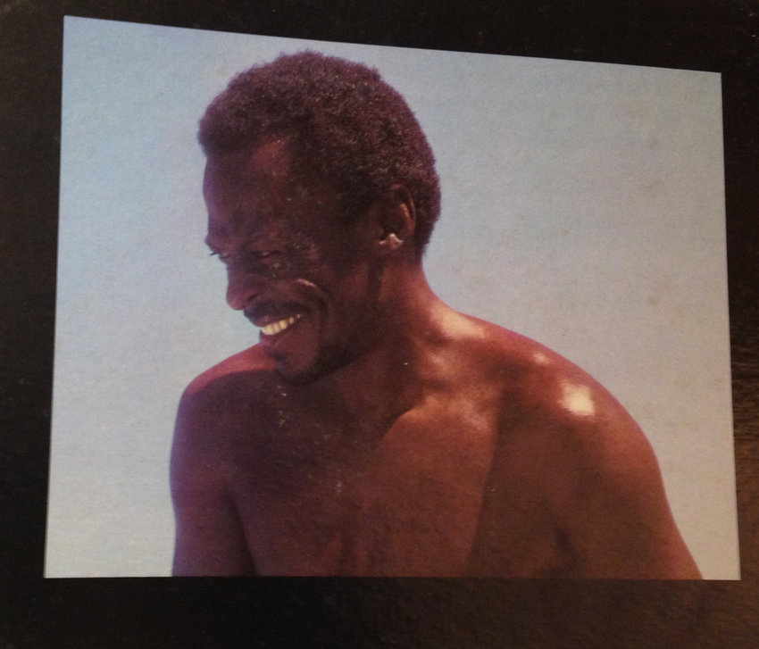 Photo of Miles Davis from the inside cover of the album, Bitches Brew