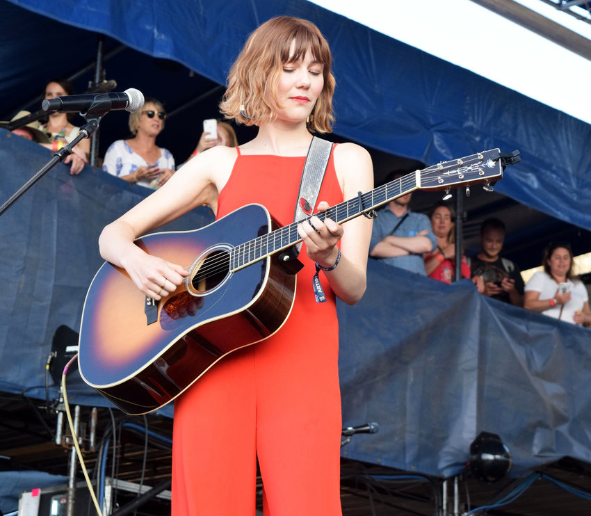 "Molly Tuttle, a rising star in the bluegrass world, joined the all-woman ""The Collaboration"" during Saturday night's closing performance at the 2019 Newport Folk Festival."