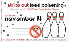 The Childhood Lead Action Project will hold its annual gathering to benefit its work to eliminate childhood lead poisoning in Rhode Island on Thursday, Nov. 14.