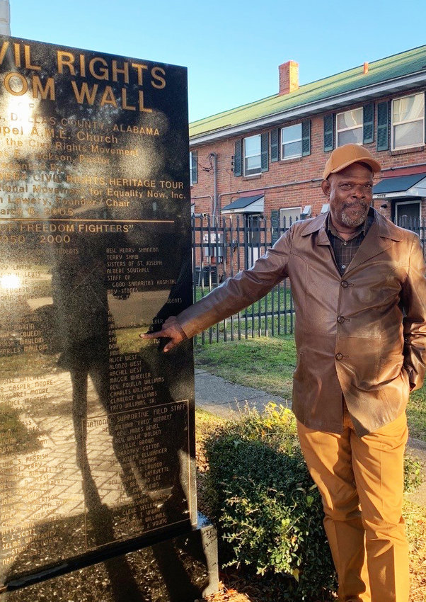 Sam Walker provided a a tour of the Voting Rights Museum in Selma, Alabama.