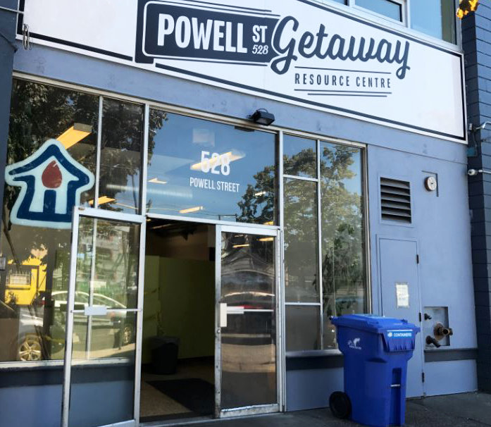 The Powell Street Getaway in Vancouver, British Columbia, a harm reduction center.