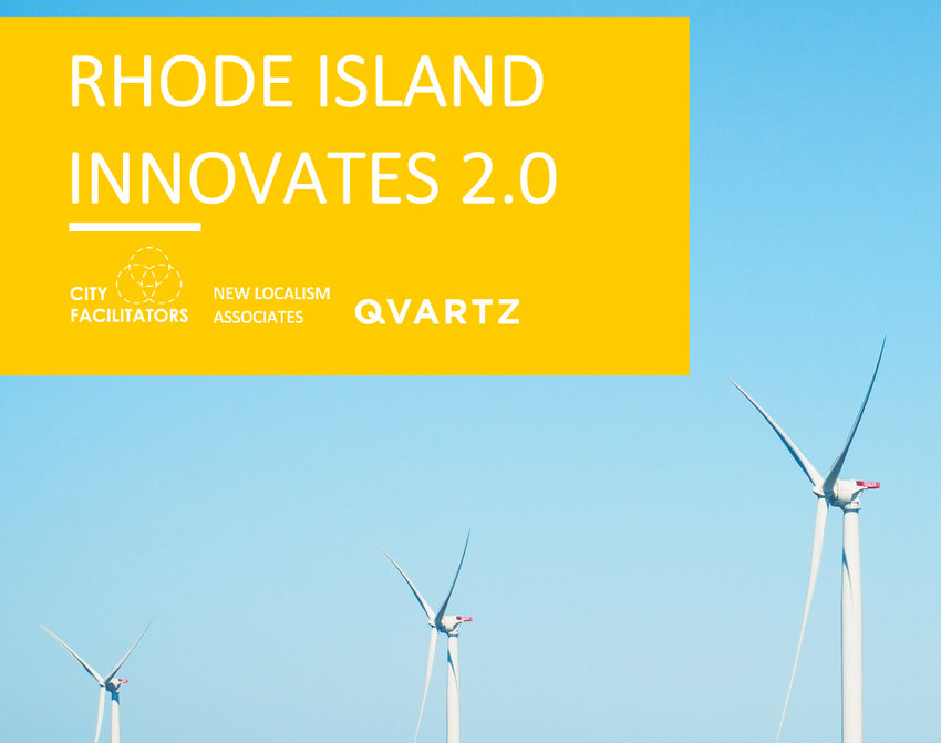 "The cover image of the new strategic economic plan for Rhode Island, ""Rhode Island Innovates 2.0."""