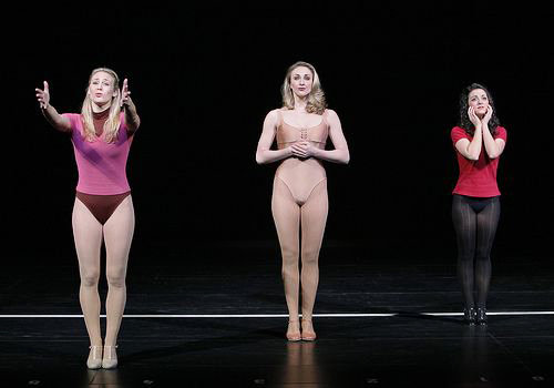 "Three dancers perform ""At the Ballet"" from the musical, ""A Chorus Line."""
