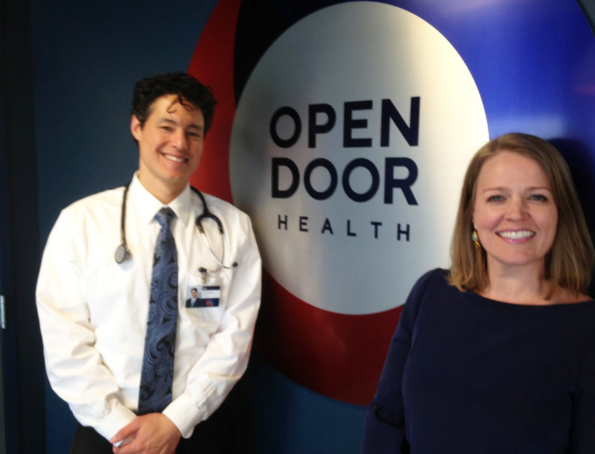 Dr. Phil Chan, the medical director, and Amy Nunn, the executive director of the Open Door Health clinic, which is opening its doors on March 2.