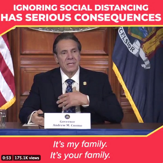 Gov. Andrew Cuomo, employing a similar strategy to President Franklin Delano Roosevelt's fireside chats, has used his daily briefings as an inclusive way to engage his audience as family.