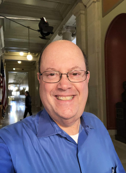 Steve Klamkin, a reporter, anchor and host for WPRO, at the State House. He is a frequent contributor to ConvergenceRI.