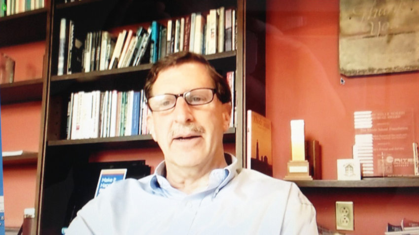 Neil Steinberg, president and CEO of the Rhode Island Foundation, during a Zoom interview.