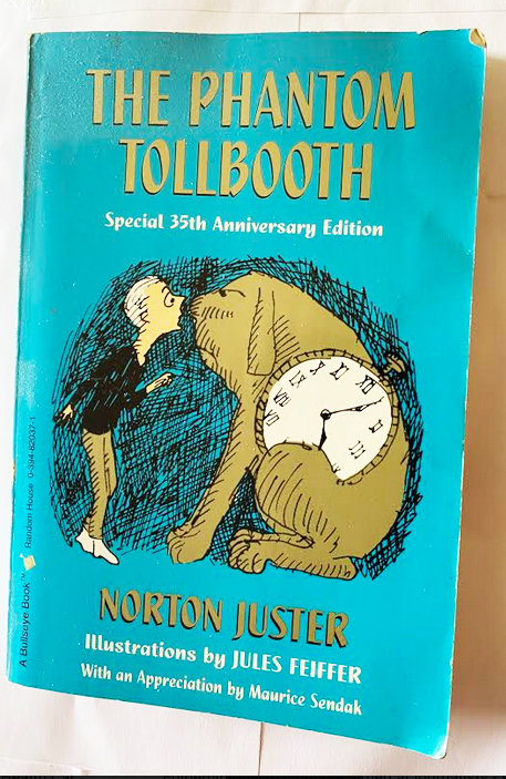 The cover of my dog-eared copy of The Phantom Tollbooth.