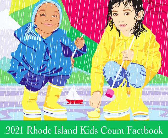 The cover of the 2021 Rhode Island Kids Count Factbook, to be released on Monday, May 10.