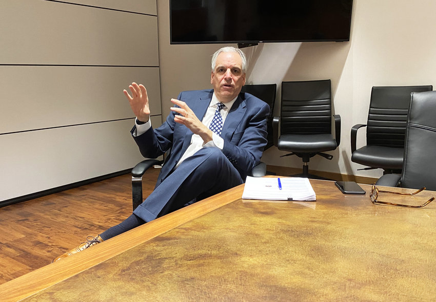 R.I. Attorney General Peter Neronha, at an interview at his office.