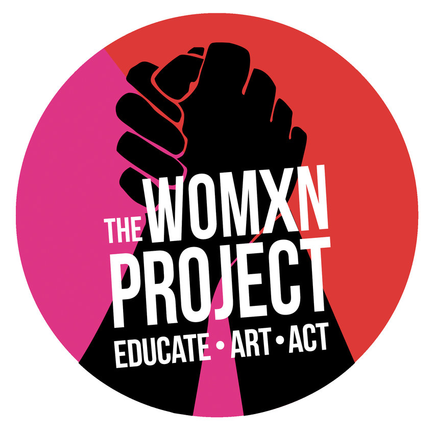 The logo of The Womxn Project.