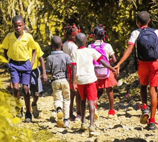 School children from Jeremie in Haiti.
