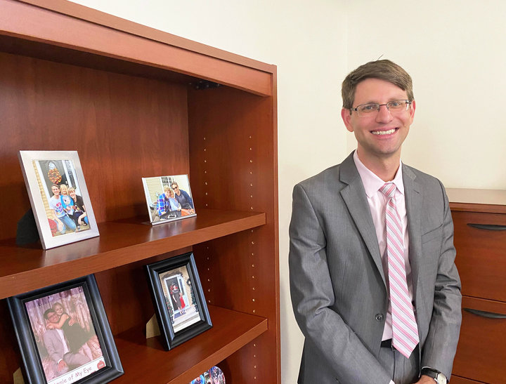 Patrick Tigue, R.I. Health Insurance Commissioner, in his office.