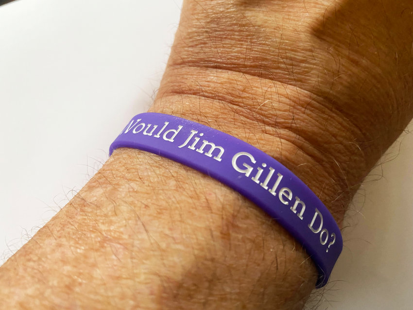 Before the Task Force meeting began on Wednesday, Sept. 8, Jonathan Goyer handed out bracelets, asking: What would Jim Gillen do? On the inside, it was written: Be the change we need.