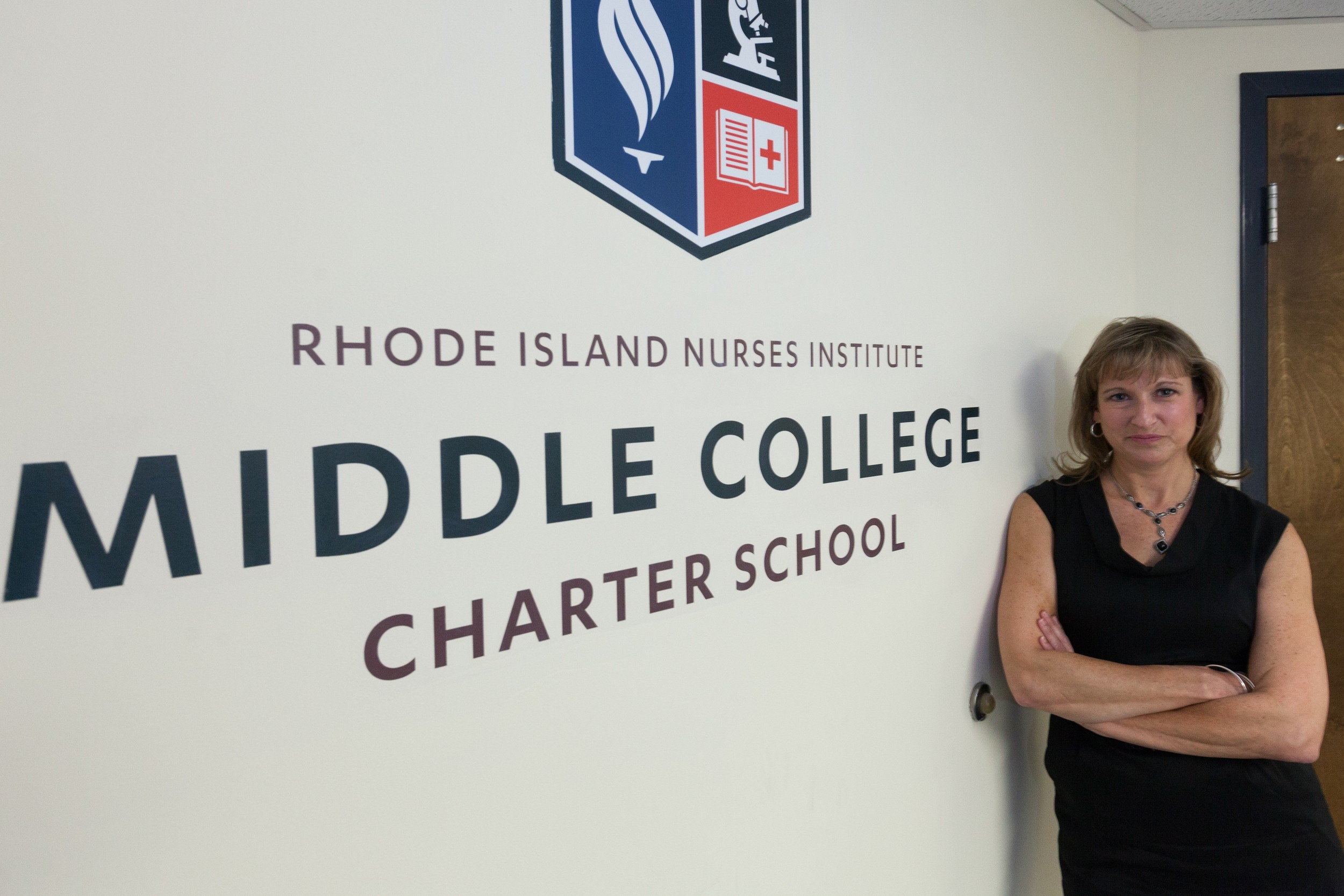 Pamela McCue, CEO of the R.I. Nurses Institute Middle College Charter School, leads an innovative public charter school with 272 students, with the goal of creating an educational pathway to a career in nursing.