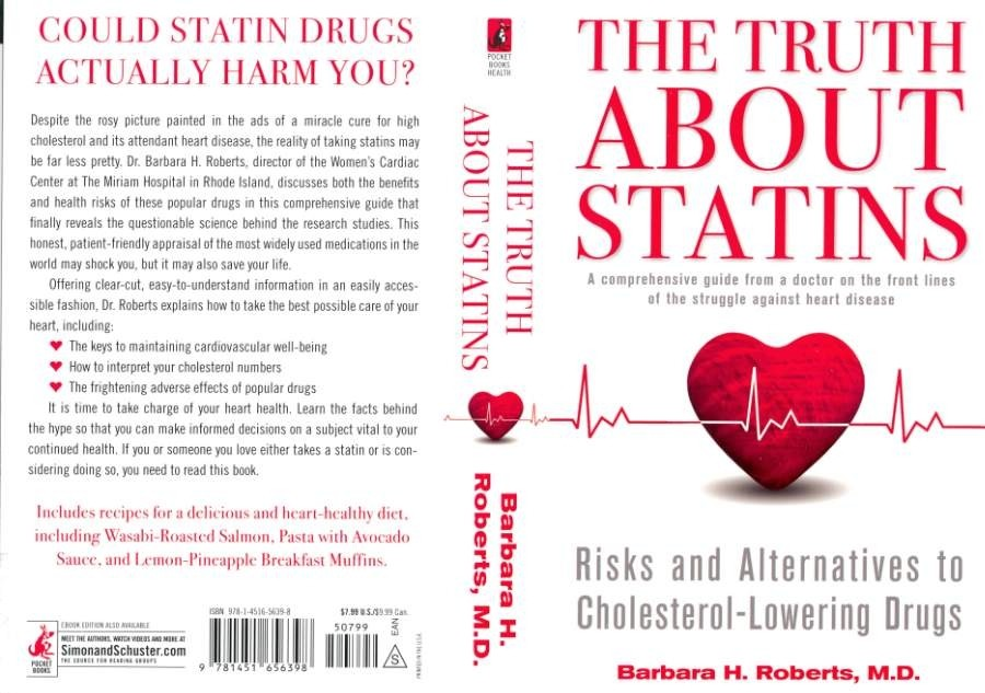 "The cover of Dr. Barbara Roberts' book, ""The Truth About Statins."""